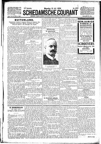 Schiedamsche Courant 1929-07-15