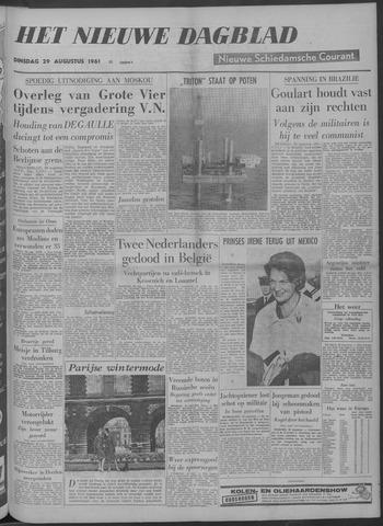 Nieuwe Schiedamsche Courant 1961-08-29