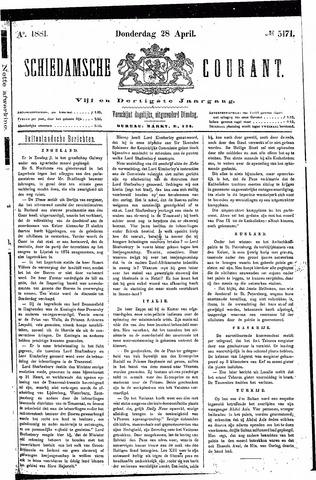 Schiedamsche Courant 1881-04-28