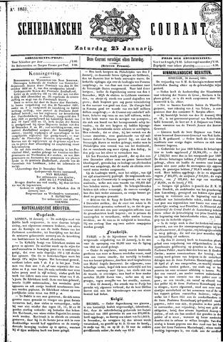 Schiedamsche Courant 1851-01-25