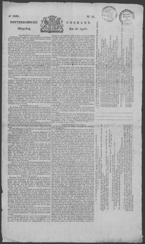 Rotterdamse Courant 1835-04-28