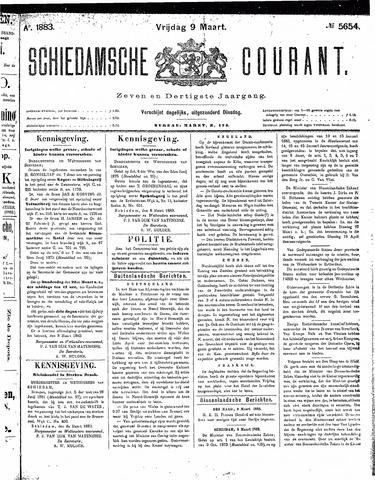 Schiedamsche Courant 1883-03-09