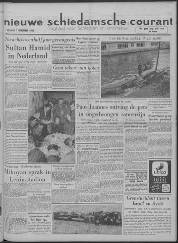 Nieuwe Schiedamsche Courant 1958-11-07