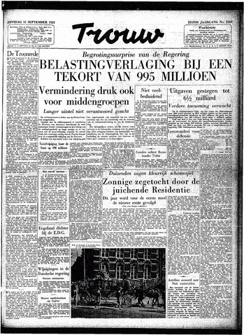 Trouw / De Rotterdammer 1953-09-15