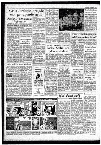 Rotterdamsch Parool / De Schiedammer 1957-08-05