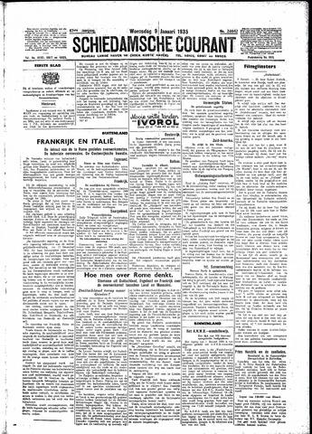 Schiedamsche Courant 1935-01-09