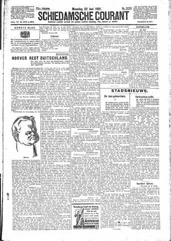Schiedamsche Courant 1931-06-22