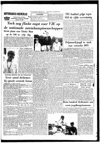 Rotterdamsch Nieuwsblad / Schiedamsche Courant / Rotterdams Dagblad / Waterweg / Algemeen Dagblad 1966-08-01