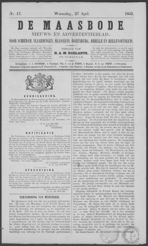 De Maasbode 1853-04-27
