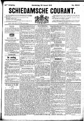 Schiedamsche Courant 1916-01-20