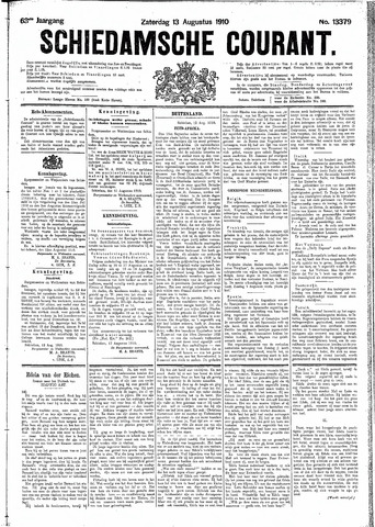 Schiedamsche Courant 1910-08-13