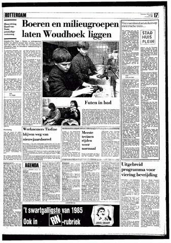 Rotterdamsch Nieuwsblad / Schiedamsche Courant / Rotterdams Dagblad / Waterweg / Algemeen Dagblad 1985-01-12