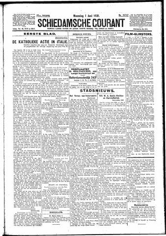 Schiedamsche Courant 1931-06-01