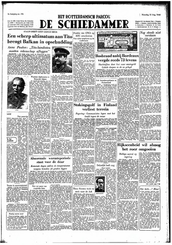 Rotterdamsch Parool / De Schiedammer 1949-08-22