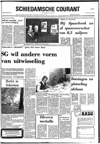 Rotterdamsch Nieuwsblad / Schiedamsche Courant / Rotterdams Dagblad / Waterweg / Algemeen Dagblad 1974-10-25
