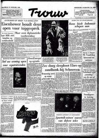 Trouw / De Rotterdammer 1958-01-13