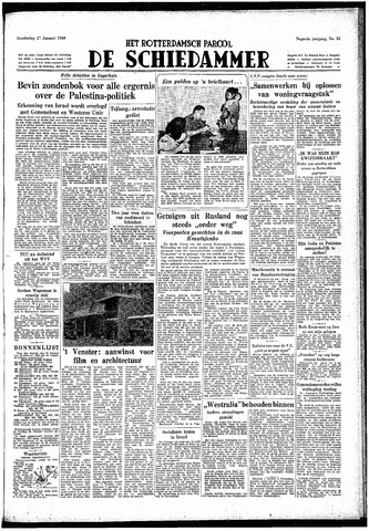 Rotterdamsch Parool / De Schiedammer 1949-01-27