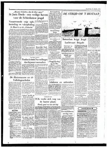 Rotterdamsch Parool / De Schiedammer 1955-01-27