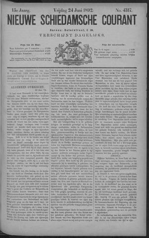 Nieuwe Schiedamsche Courant 1892-06-24