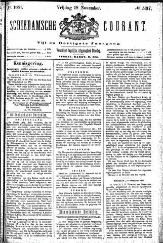 Schiedamsche Courant 1881-11-18
