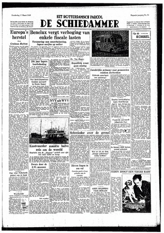 Rotterdamsch Parool / De Schiedammer 1949-03-17