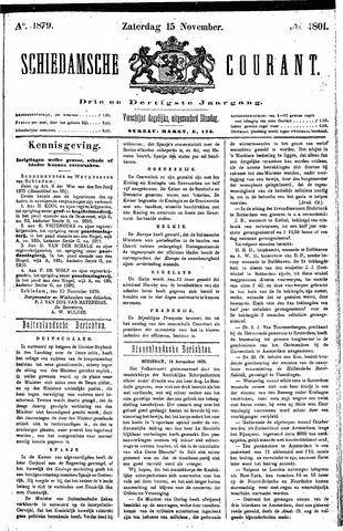 Schiedamsche Courant 1879-11-15