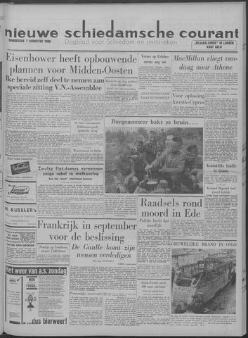 Nieuwe Schiedamsche Courant 1958-08-07