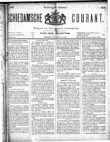 Schiedamsche Courant 1885-01-16