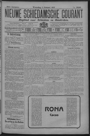 Nieuwe Schiedamsche Courant 1913-02-05