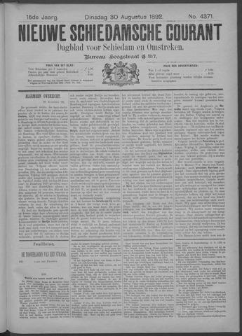 Nieuwe Schiedamsche Courant 1892-08-30