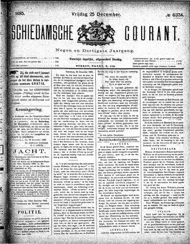 Schiedamsche Courant 1885-12-25
