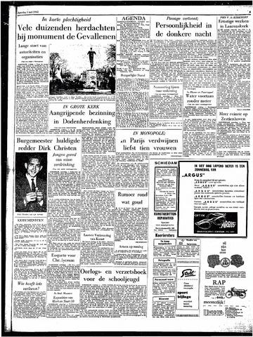 Rotterdamsch Parool / De Schiedammer 1962-05-05