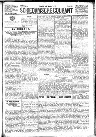 Schiedamsche Courant 1927-03-22
