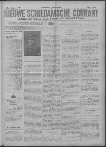 Nieuwe Schiedamsche Courant 1929-03-07