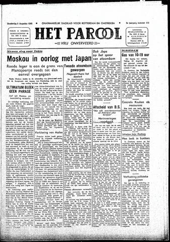Rotterdamsch Parool / De Schiedammer 1945-08-09