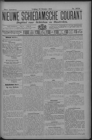 Nieuwe Schiedamsche Courant 1913-10-24