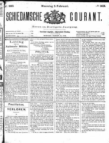 Schiedamsche Courant 1883-02-05