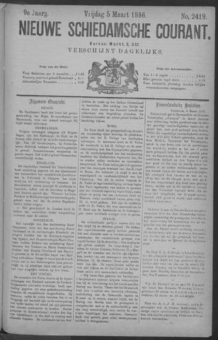 Nieuwe Schiedamsche Courant 1886-03-05