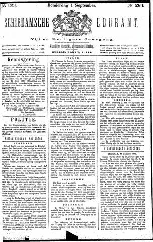 Schiedamsche Courant 1881-09-01