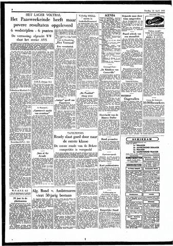 Rotterdamsch Parool / De Schiedammer 1955-04-12