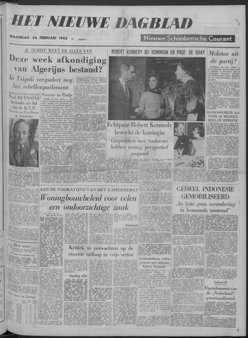 Nieuwe Schiedamsche Courant 1962-02-26