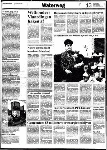 Rotterdamsch Nieuwsblad / Schiedamsche Courant / Rotterdams Dagblad / Waterweg / Algemeen Dagblad 1991-04-09