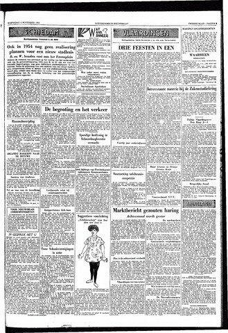 Rotterdamsch Nieuwsblad / Schiedamsche Courant / Rotterdams Dagblad / Waterweg / Algemeen Dagblad 1953-11-04