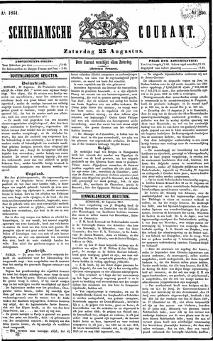 Schiedamsche Courant 1851-08-23
