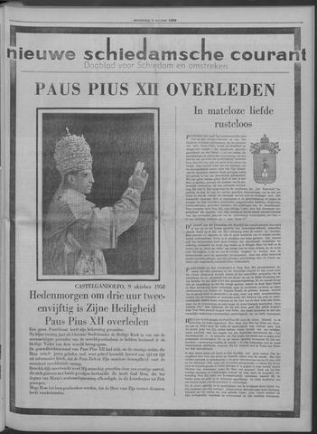 Nieuwe Schiedamsche Courant 1958-10-09