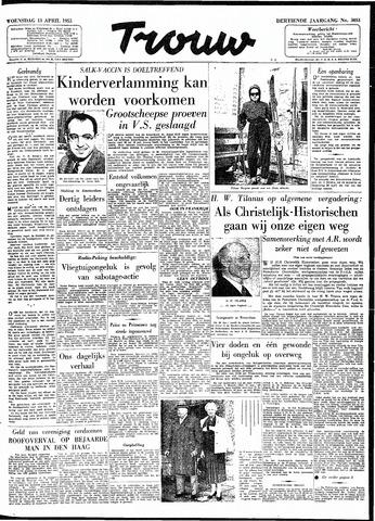 Trouw / De Rotterdammer 1955-04-13