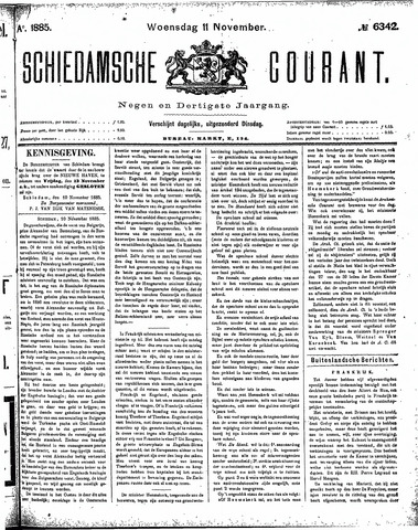 Schiedamsche Courant 1885-11-11
