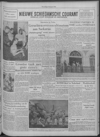Nieuwe Schiedamsche Courant 1958-02-05