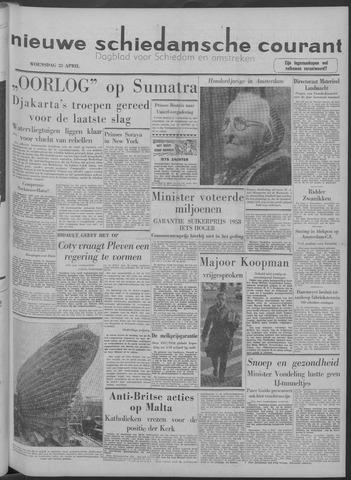 Nieuwe Schiedamsche Courant 1958-04-23