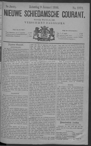 Nieuwe Schiedamsche Courant 1886-01-09